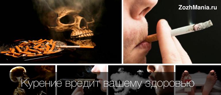 Как курение вредит здоровью человека