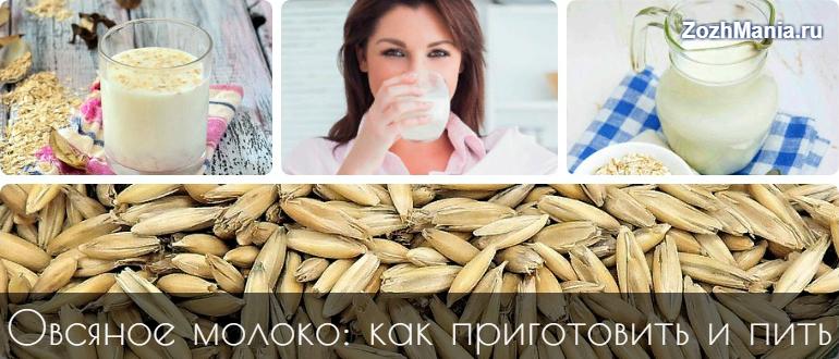 Овсяное молоко – польза и вред