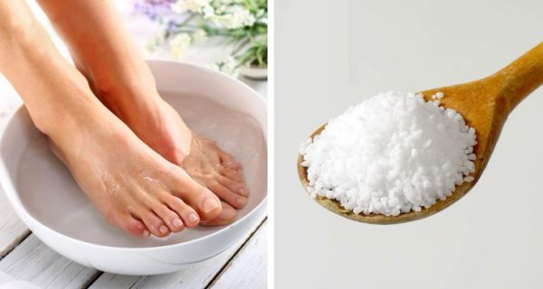 Ножная ванночка с солью